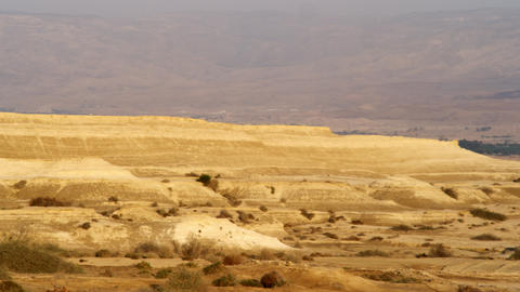 Royalty Free Stock Video Footage panorama of a desert landscape shot in Israel a Footage