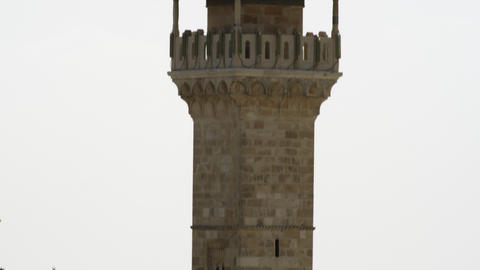 Stock Video Footage of a minaret in Jerusalem filmed in Israel at 4k with Red Footage