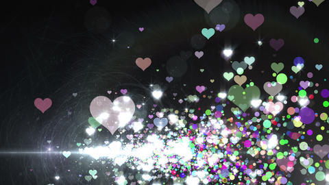 Lens Flares and Particles 16 heart T2f 4k Animation