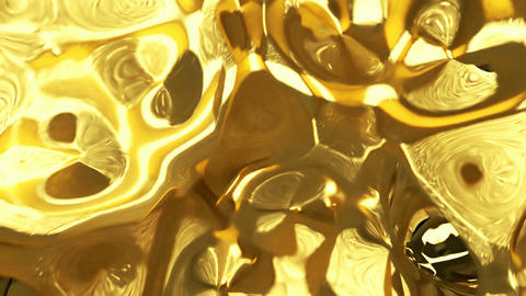 Looping lens distortion of gold Animation