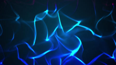 Visualization of rising blue flames Animation