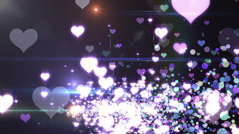 Lens Flares and Particles 16 heart U2f 4k Animation