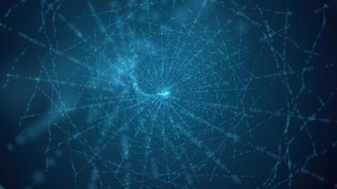 Computer generated spinning blue web vortex Animation