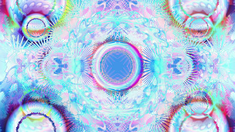 Visualization of colorful gears turning Animation