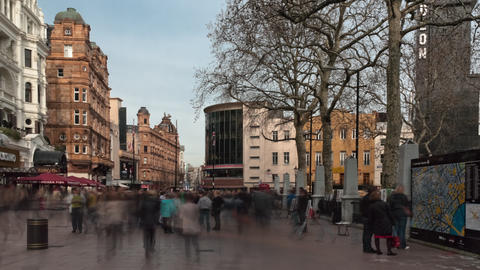 Time-lapse of Leicester Square Footage