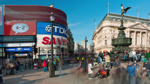 Time-lapse of Piccadilly Circus during daytime Footage