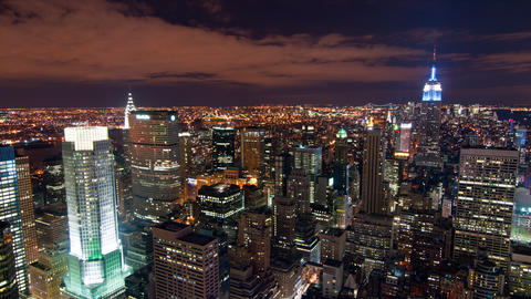 New York time-lapse from the Rockefeller building Footage