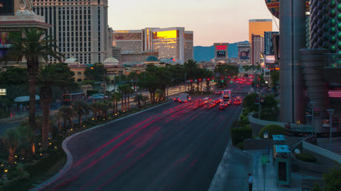 Timelapse shot of the Vegas strip Footage
