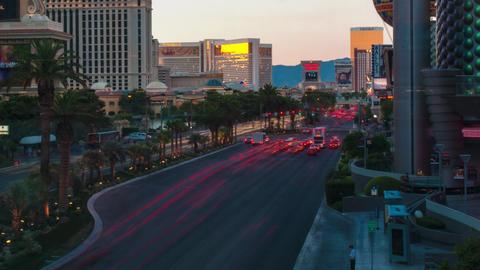 Timelapse shot of the Vegas strip Footage