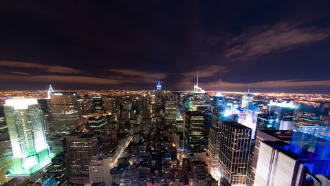 New York cityscape time-lapse from the Rockefeller building Footage