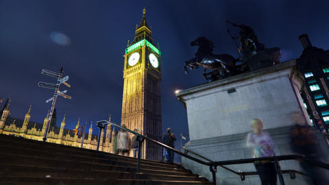 Time-lapse of Big Ben in London Footage