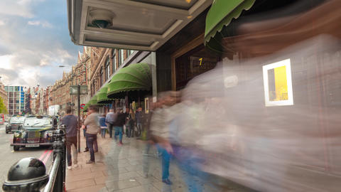 Harrods time-lapse circa October 2011 in London Footage