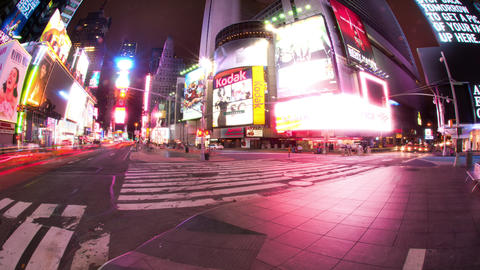 Time lapse of Times Square at night Footage