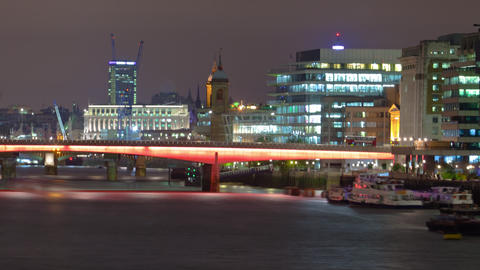 Time-lapse of the London Bridge in London Footage