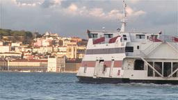 Ferry boat in Lisbon Footage