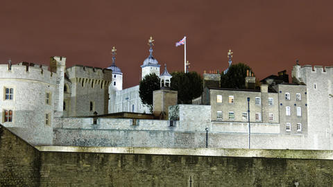 Tower of London time-lapse in London Footage
