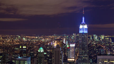 The Empire State Building and New York City night time-lapse Footage