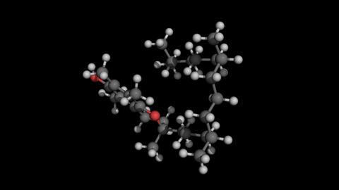 vitamin E (tocopherol) molecule rotating seamless loopable Animation