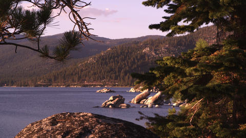 Static shot of Emerald Bay at Lake Tahoe, California Footage