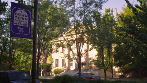 Shot of ormsby county courthouse in carson city nevada Footage