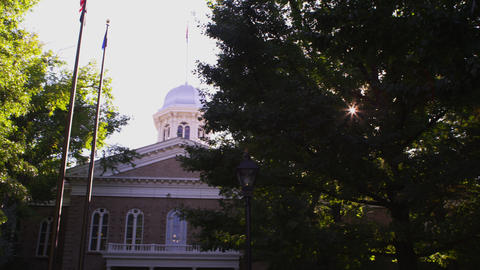 Right pan shot of Carson City Capitol Footage