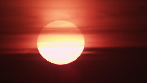 Shot of dark orange sunset Footage