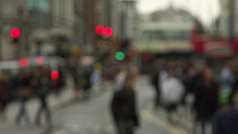 Blurry Oxford Street slow motion Footage