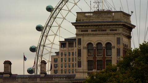 London Eye and buildings from Saint James Park Footage