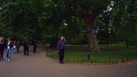 LONDON - OCTOBER 8: Directions in Saint James Park on October 8, 2011 Footage