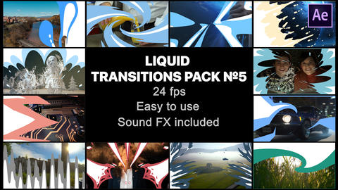 Liquid Transitions Pack 05 After Effects Template