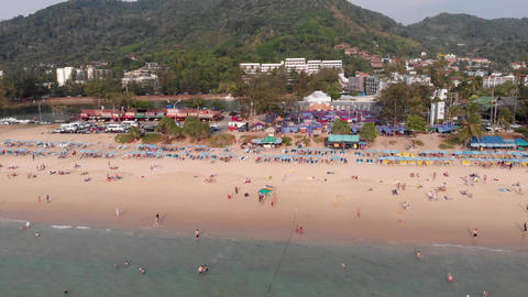 Karon beach in Thailand Footage
