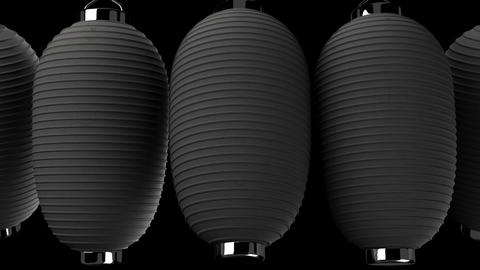Black paper lantern on black background Animation