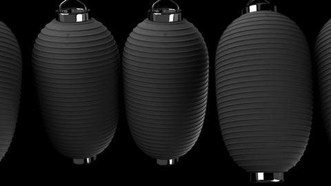 Black paper lantern on black background Stock Video Footage