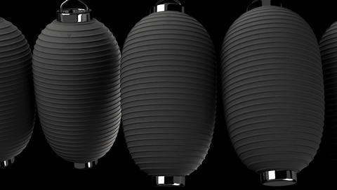 Black paper lantern on black background Stock Video Footage