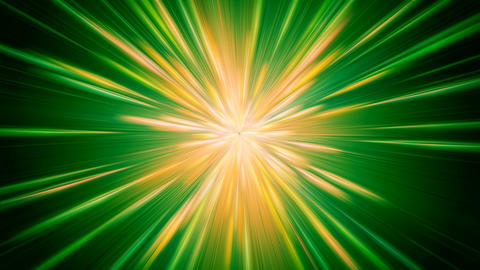 Green and Yellow Blast Background Animation
