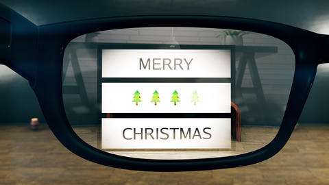 4K Merry Christmas AR Glasses Concept Art Animation