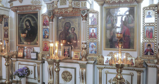 Iconostasis from the Orthodox Church Footage