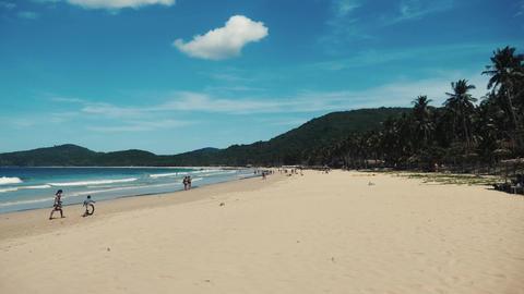 Beautiful large beach in philipines palawan nacpan Footage
