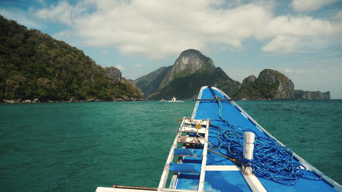 On the boat trip in philippines with beautiful view Footage