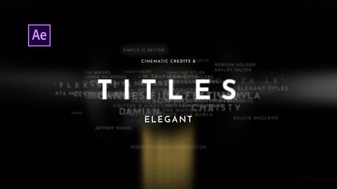 Titles Elegant Cinematic After Effects Template