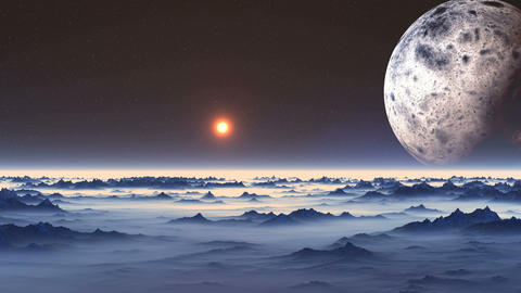 Flight over Alien Planet Videos animados