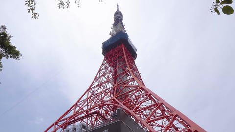 Tokyo Tower - a famous landmark in the city Live Action