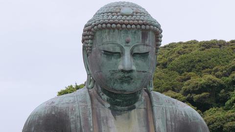 World famous Daibutsu Buddha - the Great Buddha Statue in Kamakura Live Action