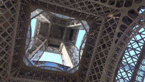 Bottom View of the Eiffel Tower Live Action