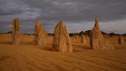 The Pinnacles at Sunset on a Stormy Day Stock Video Footage
