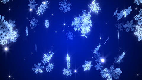 The snowy crystal which changes Stock Video Footage