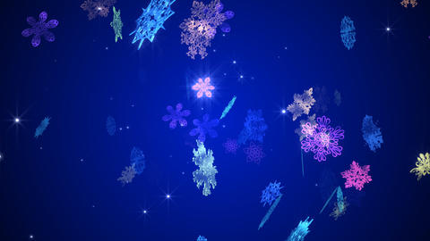 The snowy crystal which changes, Stock Animation