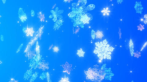 The Snowy Crystal Which Changes stock footage