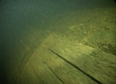 Sunk ship under water Stock Video Footage