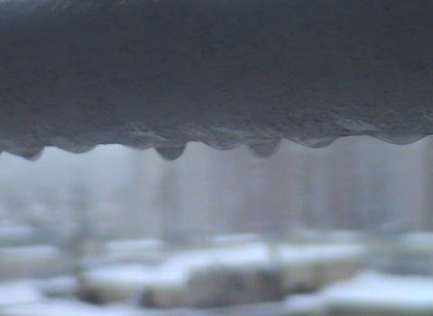 Drops on the tube Stock Video Footage